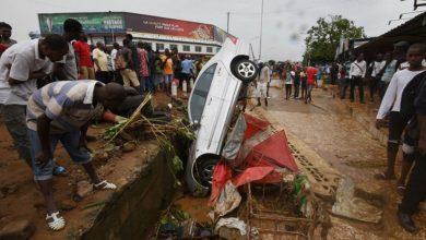 تصویر از رانش زمین در ساحل عاج
