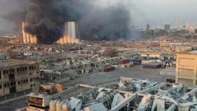 تصویر از انفجار عظیم در بیروت پایتخت لبنان