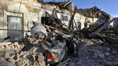 تصویر از لحظه وقوع زلزله کرواسی حین مصاحبه با شهردار شهر پترینیا